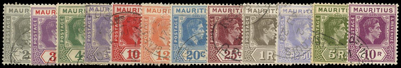 MAURITIUS 1938  SG252/63a Used
