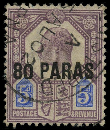 BRITISH LEVANT 1902  SG9a Used