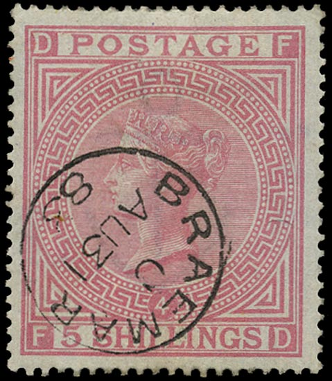 GB 1882  SG130 Pl.4 Used