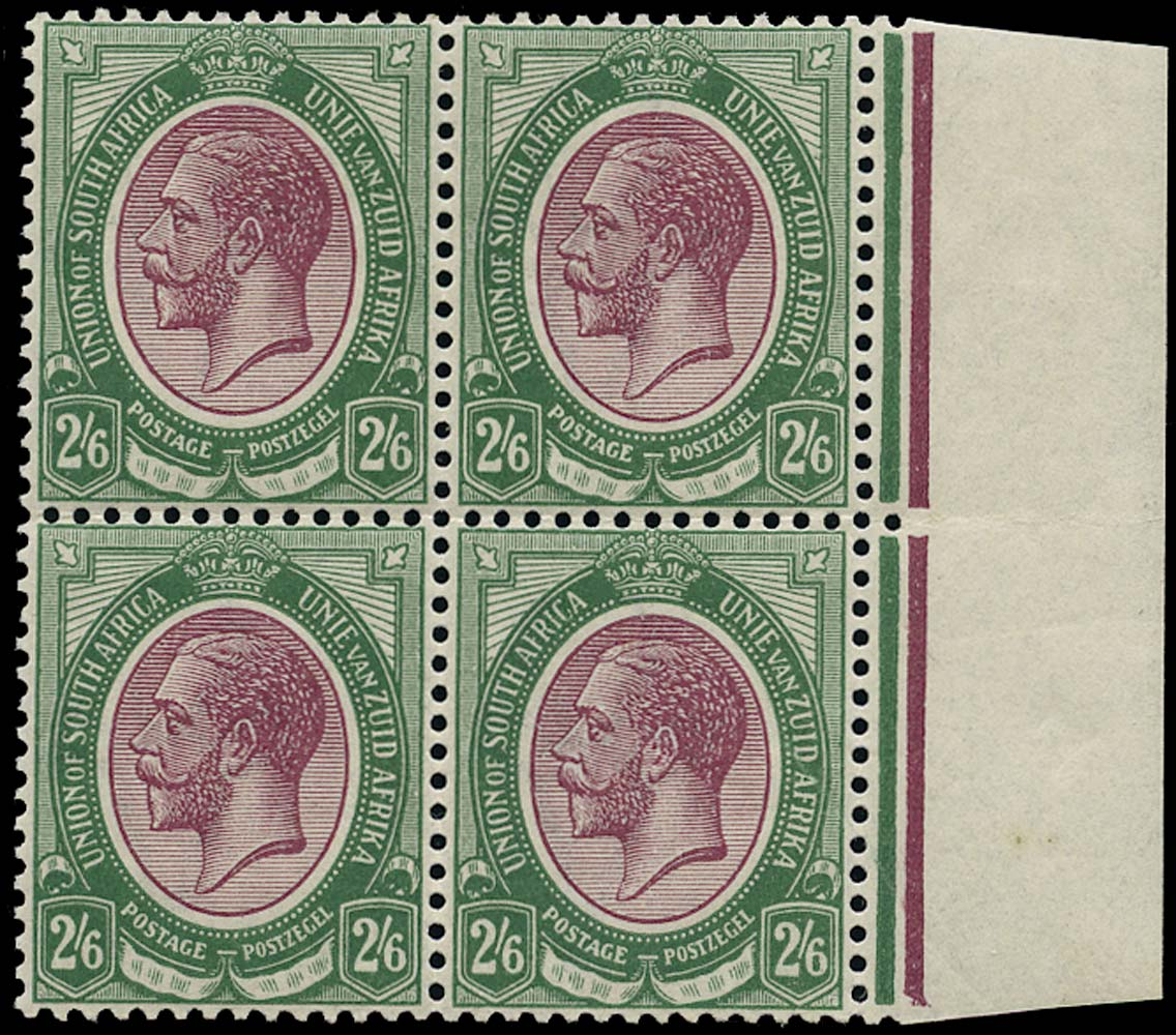 SOUTH AFRICA 1913  SG14 Mint unmounted King's Head 2s6d purple and green
