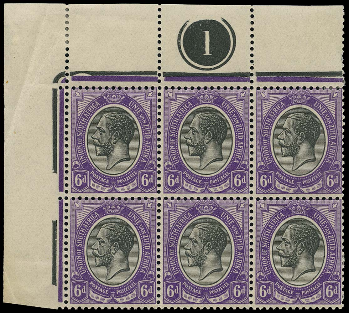 SOUTH AFRICA 1913  SG11 Mint King's Head 6d black and violet