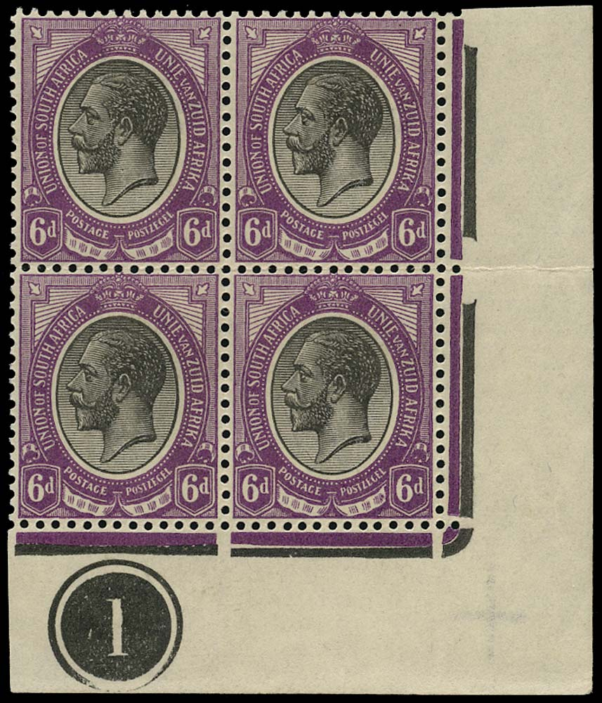 SOUTH AFRICA 1913  SG11 Mint King's Head 6d black and (reddish) violet