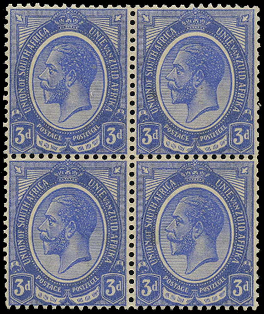 SOUTH AFRICA 1913  SG9w Mint unmounted King's Head 3d ultramarine watermark inverted