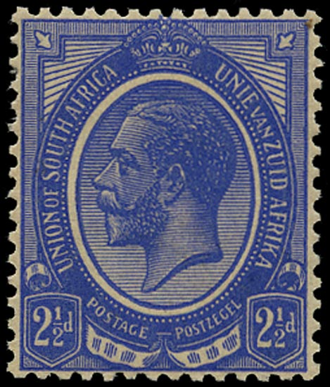 SOUTH AFRICA 1913  SG7w Mint King's Head 2½d bright blue WATERMARK INVERTED