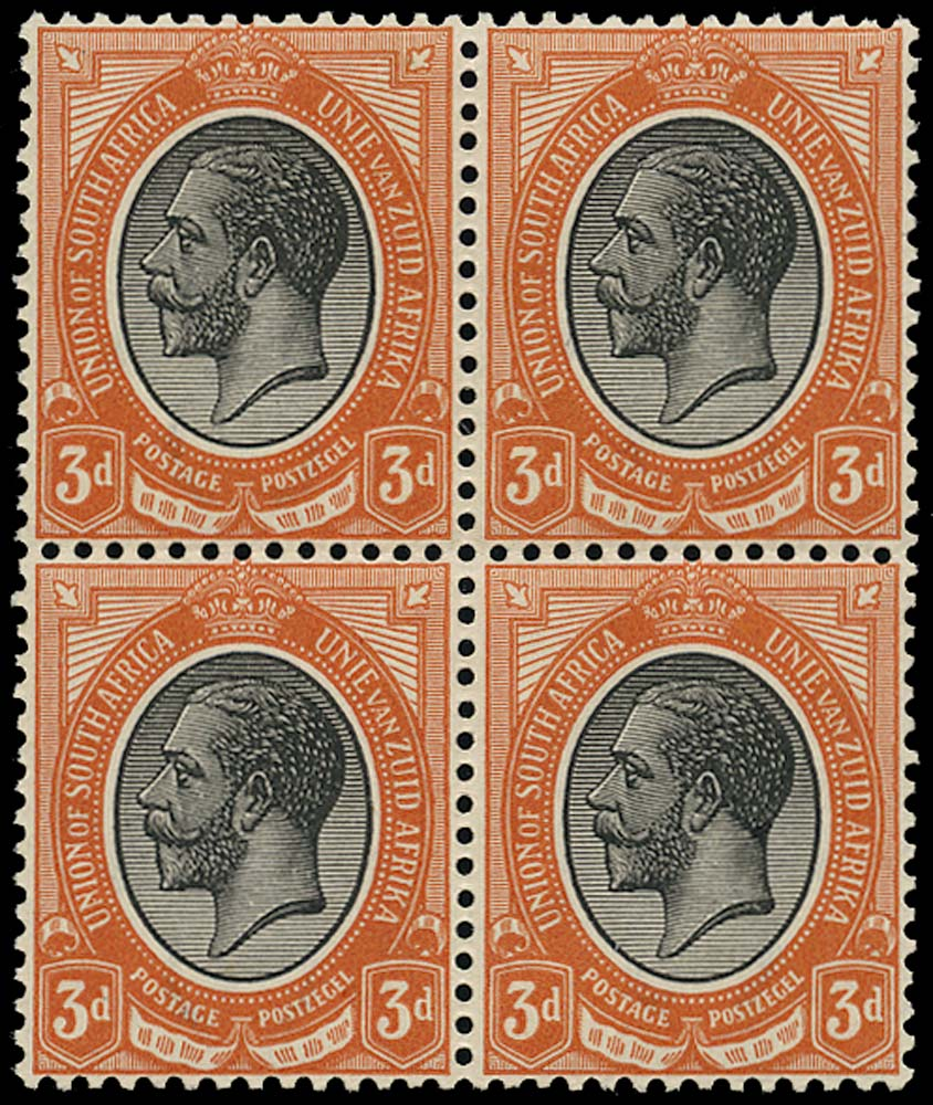 SOUTH AFRICA 1913  SG8w Mint unmounted King's Head 3d black and orange-red watermark inverted