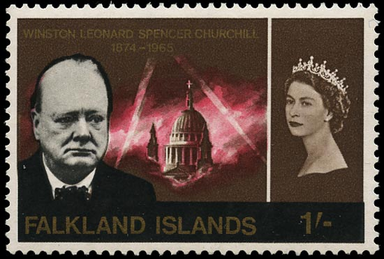 FALKLAND ISLANDS 1966  SG225w Mint unmounted Churchill 1s variety watermark inverted