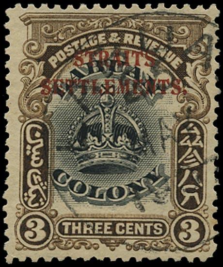 MALAYA - STRAITS 1906  SG143 Used On Labuan 3c black and sepia