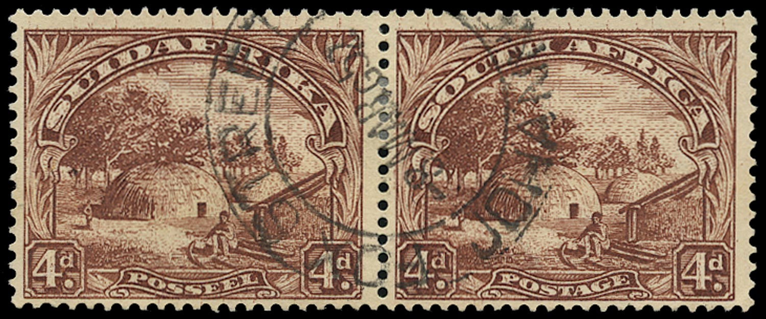SOUTH AFRICA 1930  SG46ca Used 4d brown variety Monkey in tree