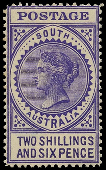 SOUTH AUSTRALIA 1906  SG304 Mint thick POSTAGE 2s6d bright violet perf 12