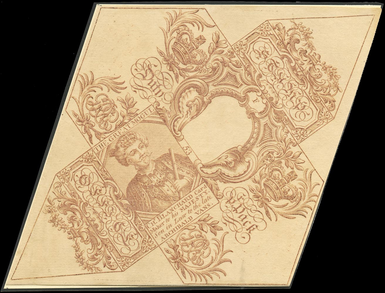 GB 1744 Revenue - Playing card wrapper 'The Great Mogul'