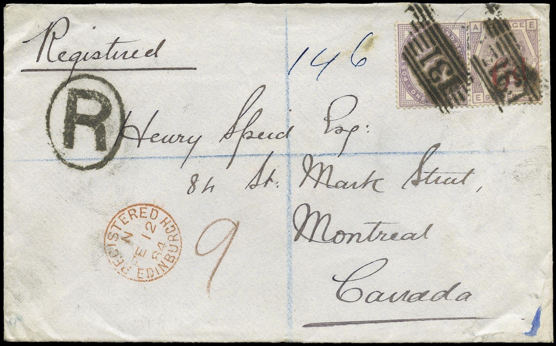 GB 1884  SG162,172 Pl.18 Cover