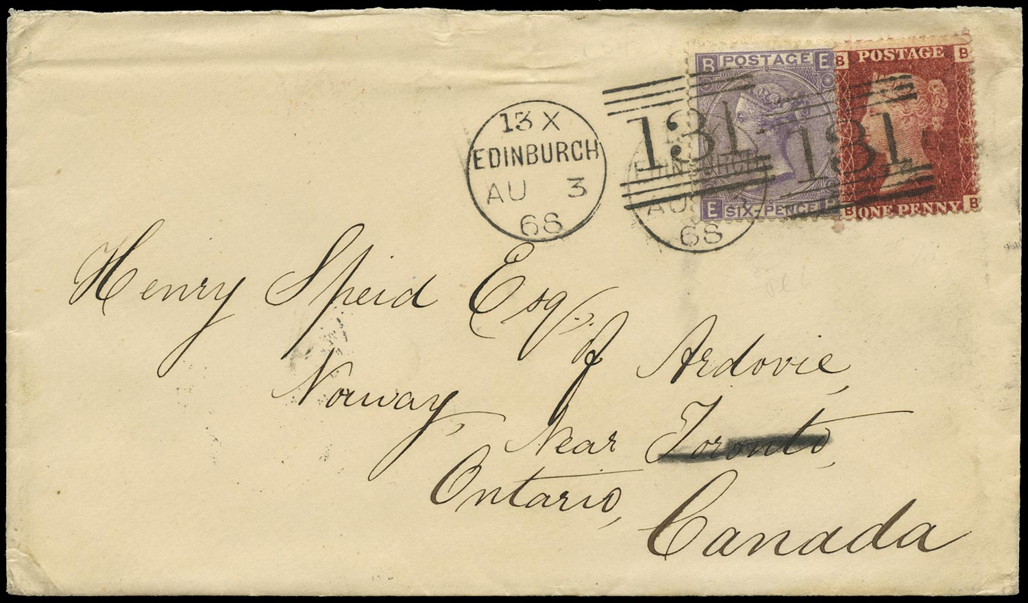 GB 1868  SG43,105 Cover