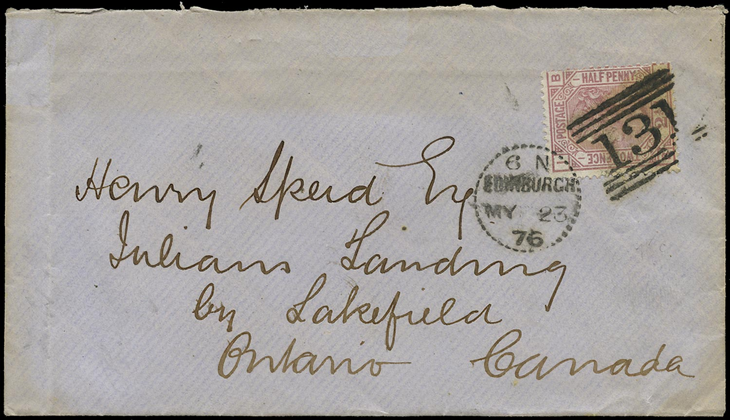 GB 1876  SG139 Pl.1 Cover