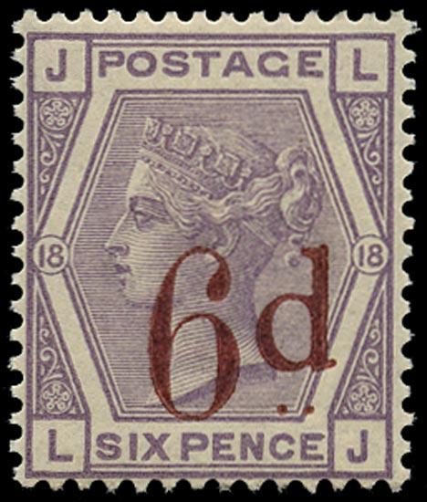 GB 1883  SG162 Pl.18 Used U/M example LJ
