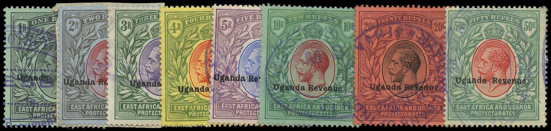 UGANDA 1912 Revenue High Values