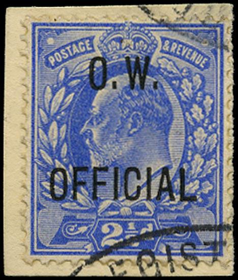 GB 1902  SGO39 Official VFU example on piece