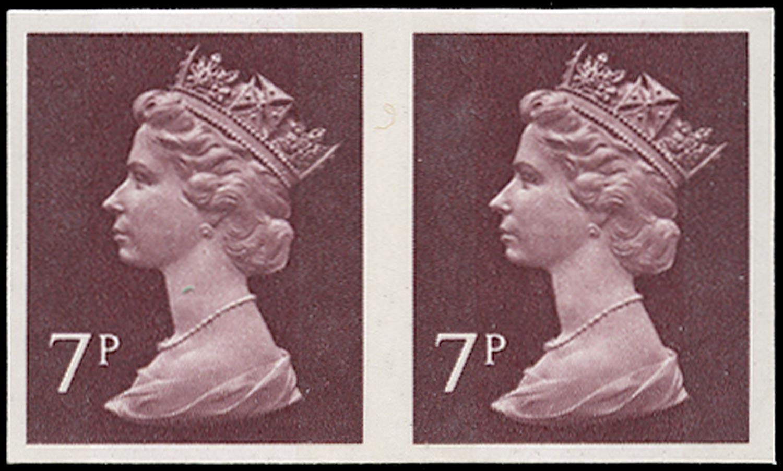 GB 1975  SGX874a Mint imperforate horizontal pair