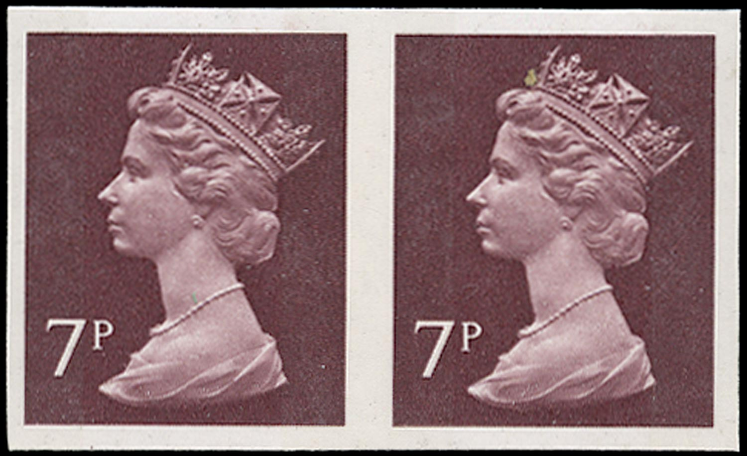 GB 1975  SGX874a Mint imperforate horizontal pair