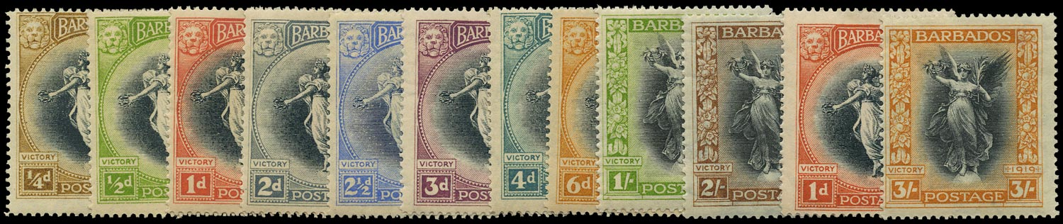 BARBADOS 1920  SG201/12 Mint Victory set of 12 to 3s