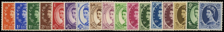 GB 1952  SG515/31 Mint U/M o.g. set of seventeen