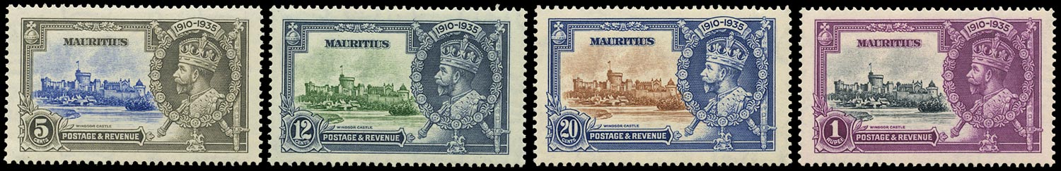 MAURITIUS 1935  SG245/48 Mint Silver Jubilee set of 4