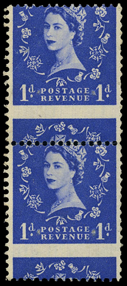 GB 1953  SG516var Booklet pane major perforation shift