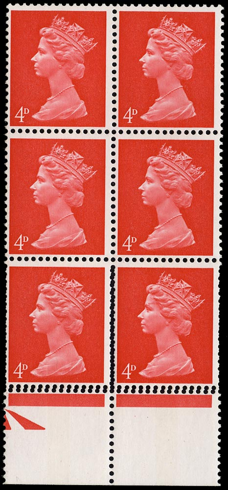GB 1969  SG733var Mint Double perforations