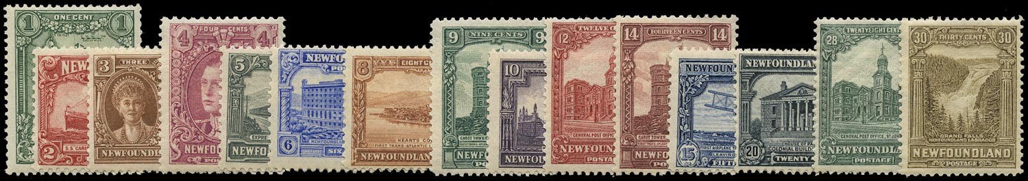 NEWFOUNDLAND 1928  SG164/78 Mint Publicity set of 15 to 30c De La Rue printing