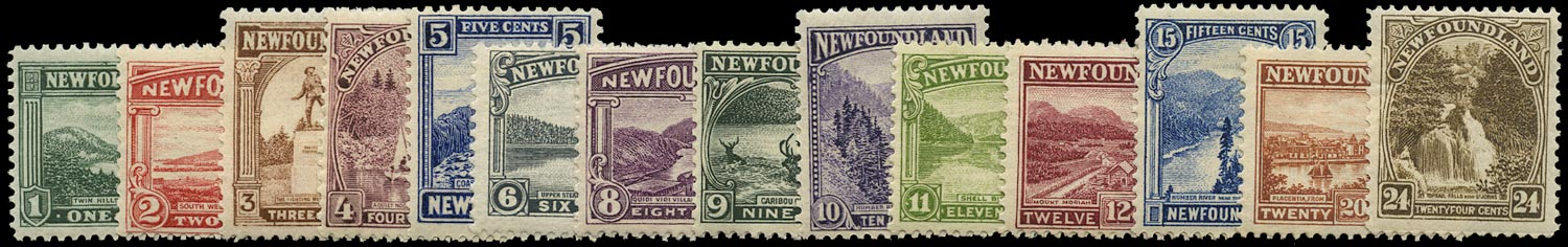 NEWFOUNDLAND 1923  SG149/62 Mint Pictorial set of 14 to 24c