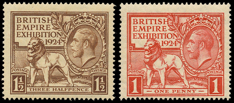 GB 1924  SG430/1 Mint U/M o.g. set of two