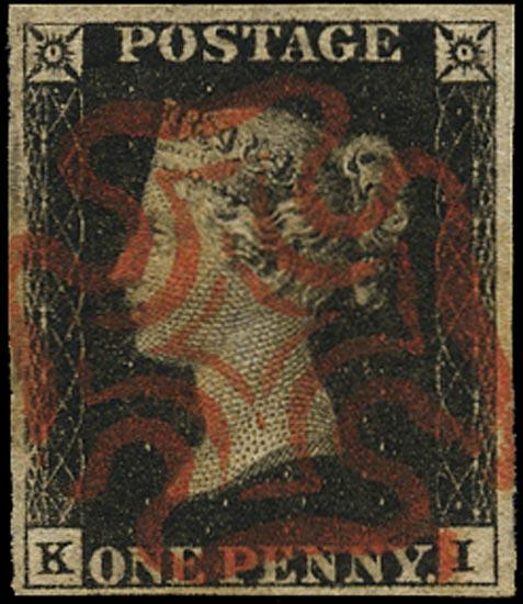 GB 1840  SG1 Pl.6 Penny Black