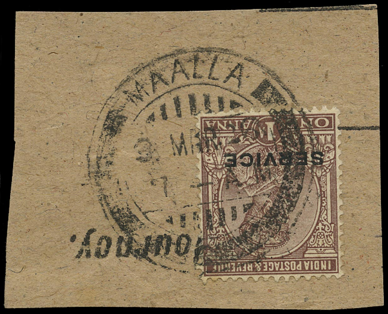 ADEN 1922  SG. Cancel