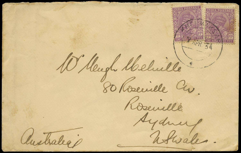 ADEN 1934  SG. Cover