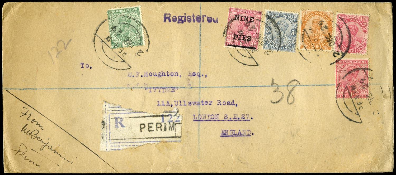 ADEN 1929  SG. Cover