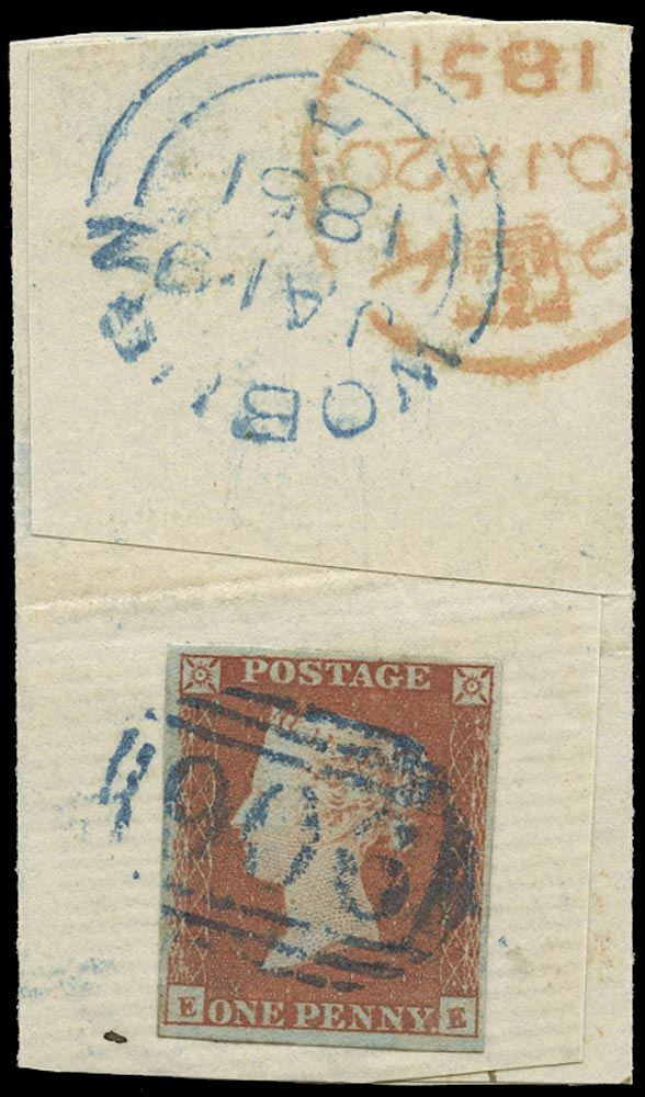 GB 1841  SG8p Pl.94 Used Blue Woburn