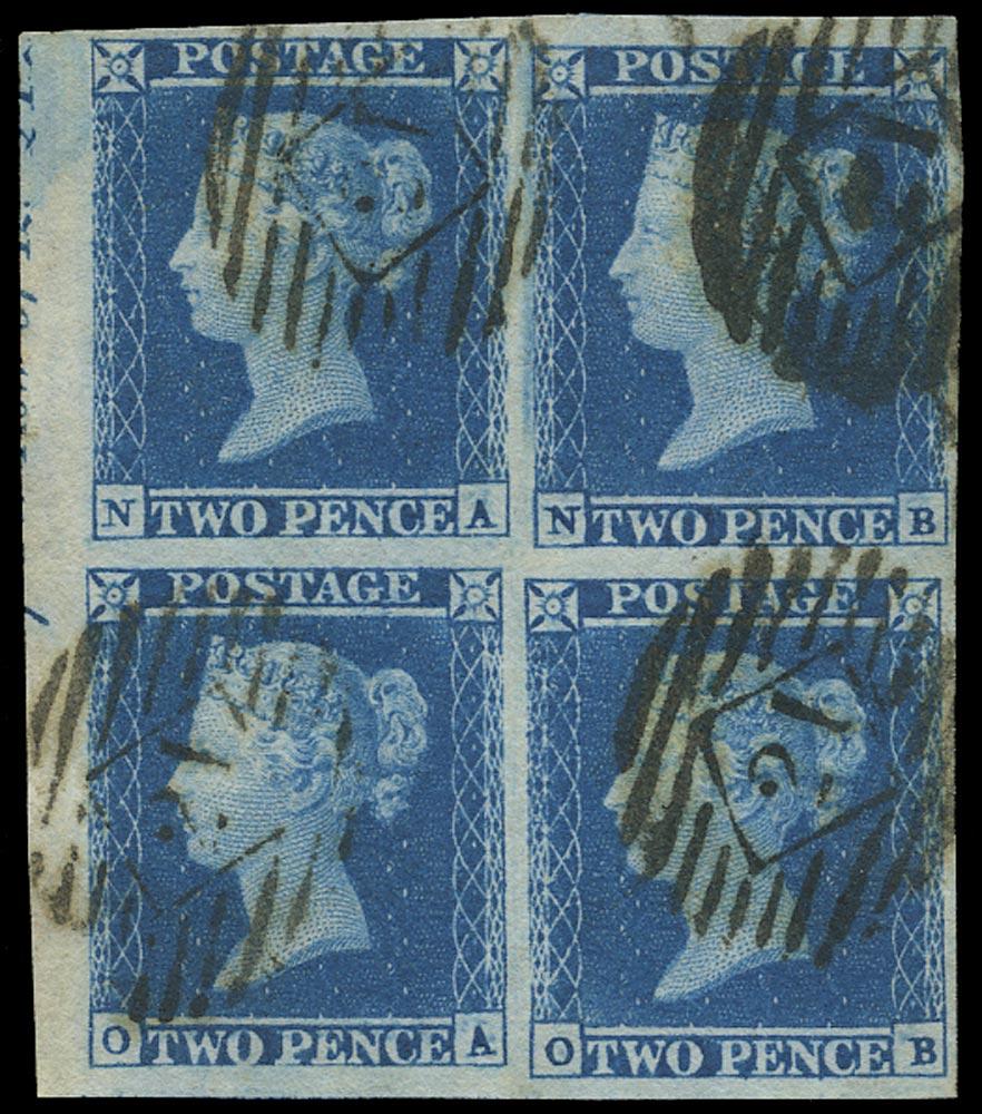 GB 1841  SG15 Pl.4 Used Block of four (NA-OB)