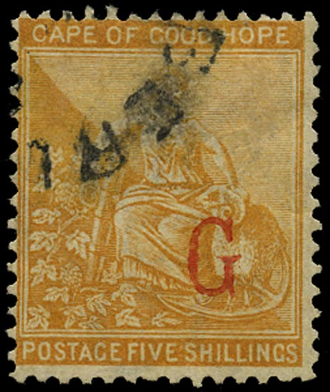GRIQUALAND 1877  SG10d Used