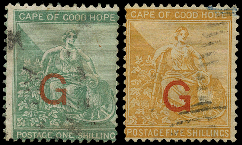 GRIQUALAND 1877  SG9f, 10f Used