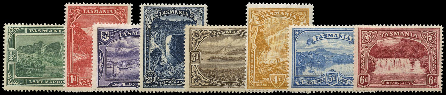 TASMANIA 1899  SG229/36 Mint Pictorial set of 8 to 6d DLR recess printing