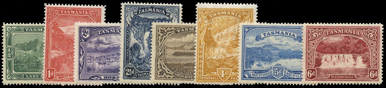 TASMANIA 1899  SG229/36 Mint Pictorial set of 8 to 6d DLR recess printing