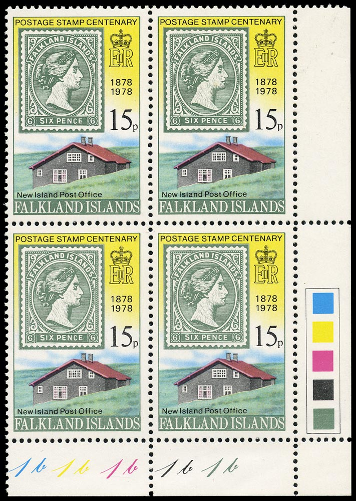 FALKLAND ISLANDS 1978  SG353w Mint unmounted Stamp Centenary 15p variety watermark inverted