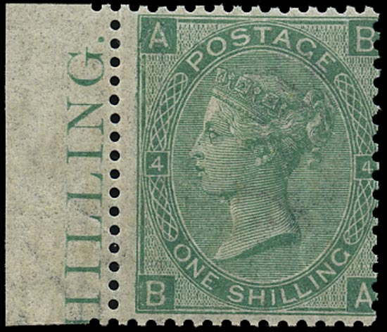 GB 1867  SG117 Pl.4 Mint unmounted o.g. example