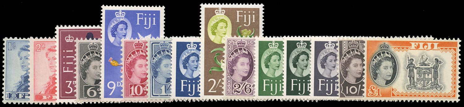 FIJI 1962  SG311/25 Mint unmounted set of 15 to £1 watermark St Edward's Crown