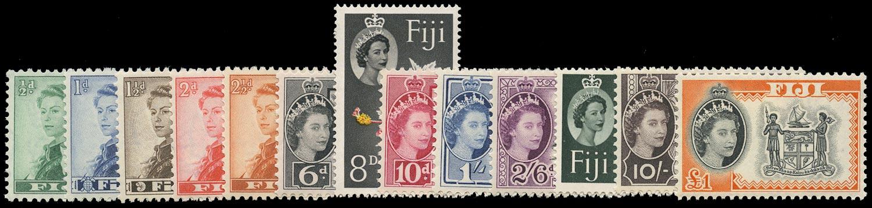 FIJI 1959  SG298/310 Mint unmounted set of 13 to £1 Script watermark