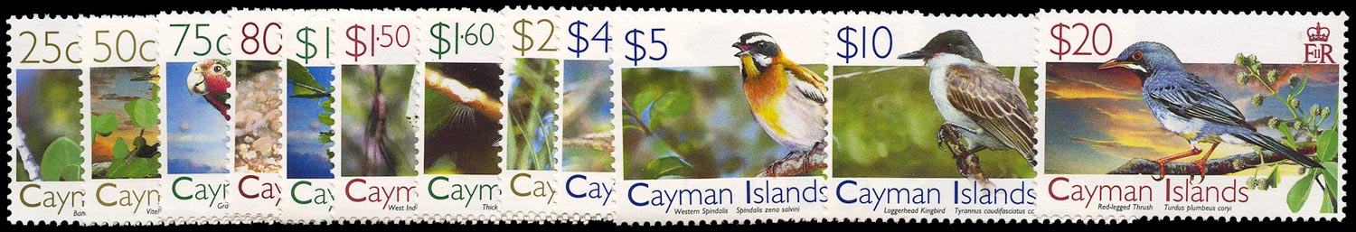 CAYMAN ISLANDS 2006  SG1108/19 Mint unmounted Birds (1st series) set of 12 to $20
