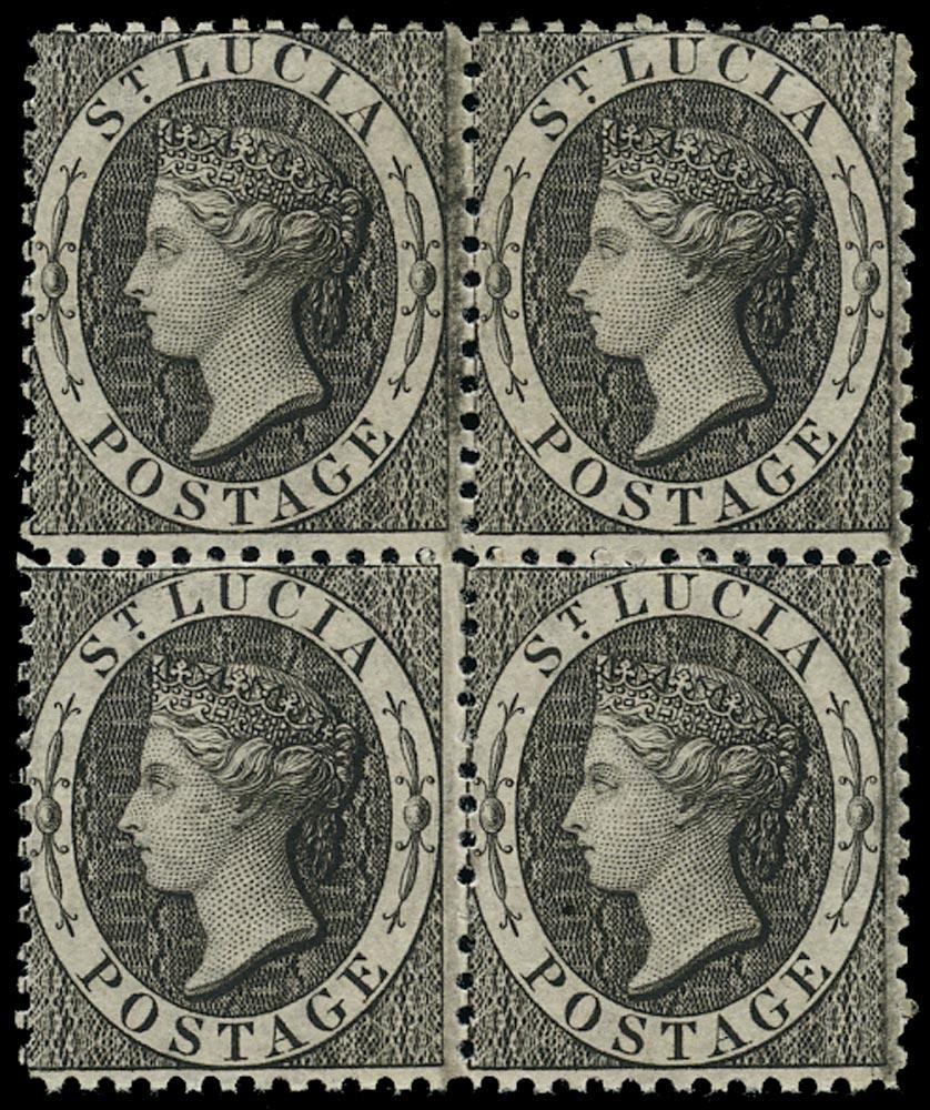 ST LUCIA 1864  SG11 Mint (1d) black perf 12½