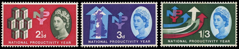 GB 1962  SG631/3p Mint set of three