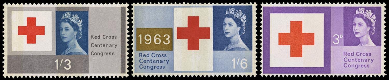 GB 1963  SG642/4p Mint set of three