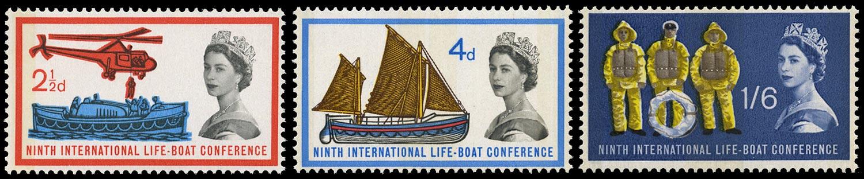 GB 1963  SG639/41p Mint set of three