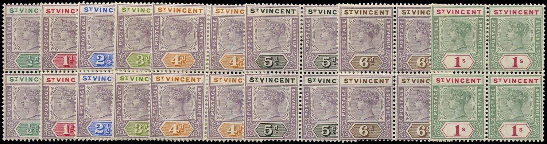 ST VINCENT 1899  SG67/74 Mint QV short set of 8 to 1s